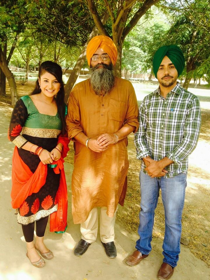 Shehnaz with Gurwinder Brar (Right Side) Shooting time