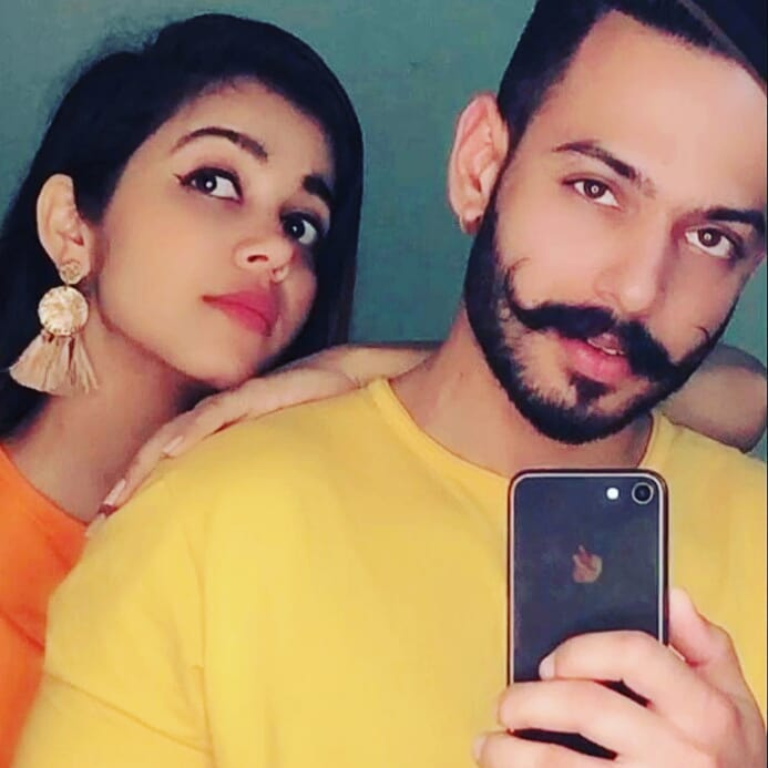 Shivani Dhiman and Pb 26 wala Baaz together pic