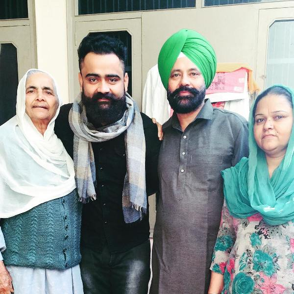 Amrit Maan with his family